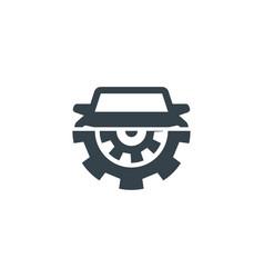 car gear concept logotype template design vector image