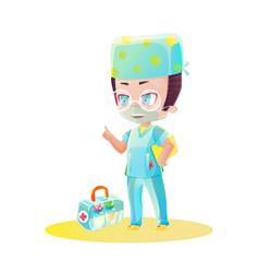 Cartoon male doctor character vector