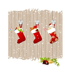 christmas fence vector image