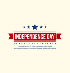 Collection banner independence day celebration vector