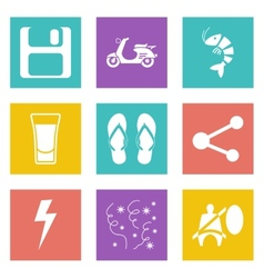 Color icons for web design set 27 vector