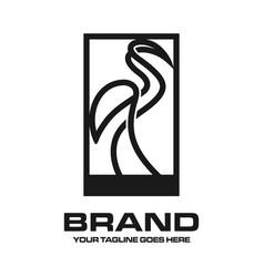 Crane outline logo vector