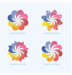 Creative abstract logo design vector