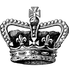 Crown Engraving vector image