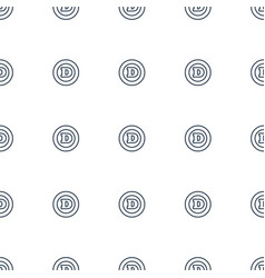 d letter icon pattern seamless white background vector image