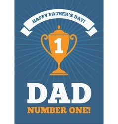 Dad number one 2 vector image