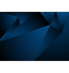 Dark blue abstract concept polygonal tech vector image