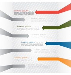 Different way colorful arrows infographics vector