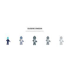 Eugene onegin icon in different style two vector