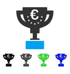 Euro award cup flat icon vector