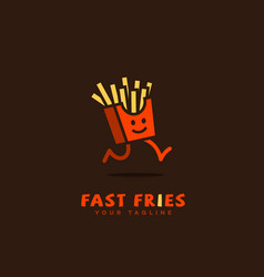 Fast fries logo vector