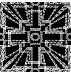 geometric creative greek key meanders seamless vector image