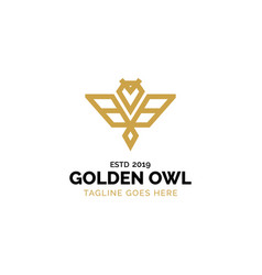 golden owl logo design inspiration vector image