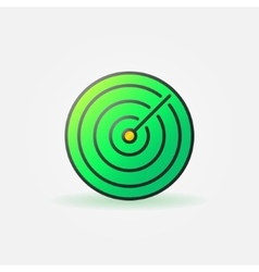 Green sonar icon or logo vector