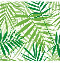 Greenery palm leaves seamless pattern vector