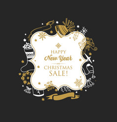 greeting happy new year template vector image