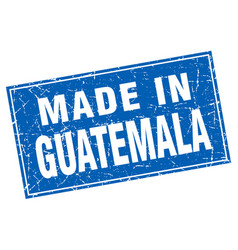 Guatemala blue square grunge made in stamp vector