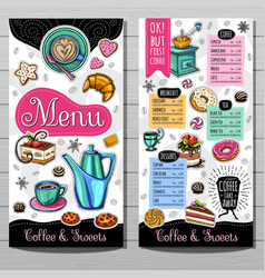 hand drawn menu vector image