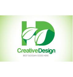 Hd green leaf letter design logo eco bio leaf vector