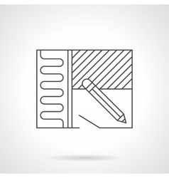 Home renovation plan flat line icon vector