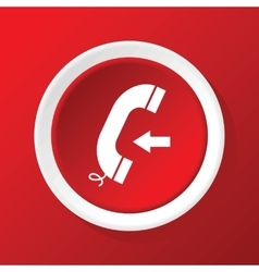 Incoming call icon on red vector