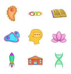 Intellect icons set cartoon style vector