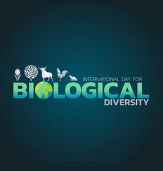 International day for biological diversity logo vector