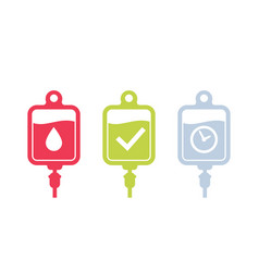 iv bag icons on white vector image