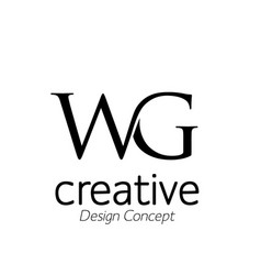 letters wg logo monogram style vector image