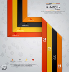 line infographics 5 vector image