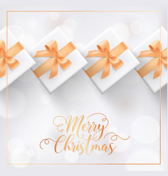 merry christmas elegant greeting card with xmas vector image