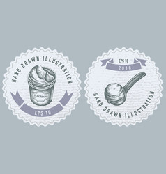 monochrome labels design with ice vector image