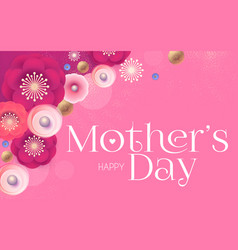 mother s day elegant greeting card with flowers vector image