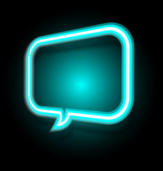 neon speech bubble on dark background vector image