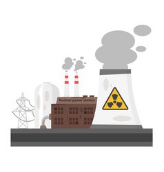 Old nuclear power plant vector