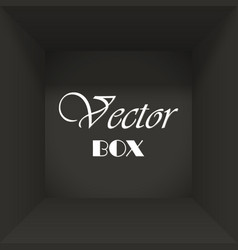 open box abstract background for text vector image