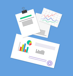 pinned document business strategy vector image