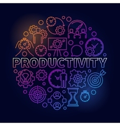 Productivity colorful round vector