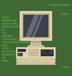 retro personal desktop computer vector image