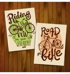 riding bike vector image