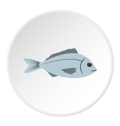 Saltwater fish icon flat style vector