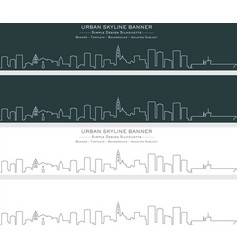 San diego single line skyline banner vector