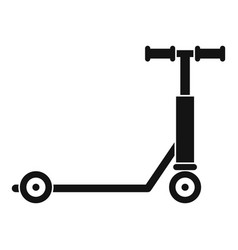Scooter icon simple style vector