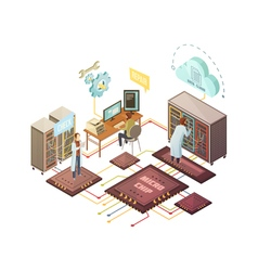 Server Room Isometric vector