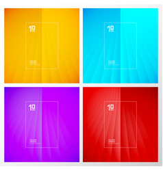 set abstract yellow blue purple red striped vector image
