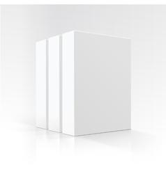 Set of Blank White Vertical Carton boxes vector image