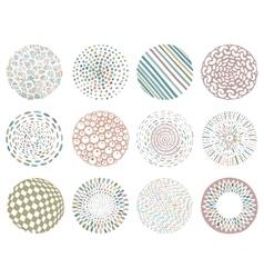 set of color deco mandalas vector image