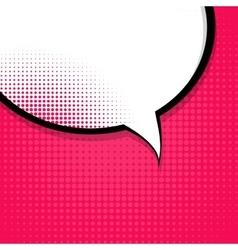 Speech Bubble Pop Art Background On Dot Background vector