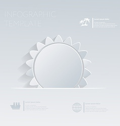 Sun Theme holidays Template infographic or website vector