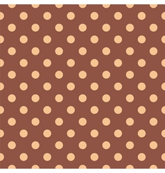 Tile pattern with polka dots on brown background vector